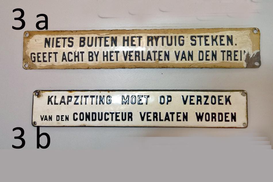 Geëmailleerde bordjes behoren ook tot de te veilen collectie. Momenteel wordt hard gewerkt aan een omvangrijke kavellijst. Foto: Karel Hoorn.