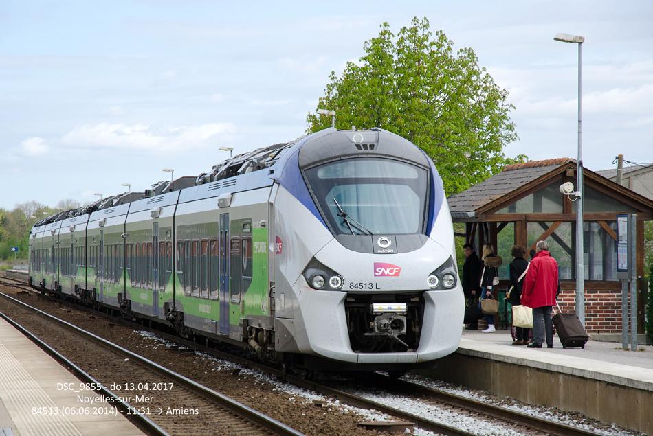 Ook de nieuwste materieeltypes zijn te zien op de lijn Boulogne - Amiens, zoals deze SNCF Regiolis (